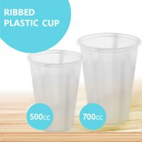 Ribbed Plastic Cup