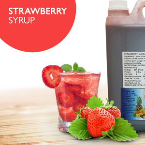 Strawberry Syrup Singapore|One Stop Bubble Tea Shop Supplier